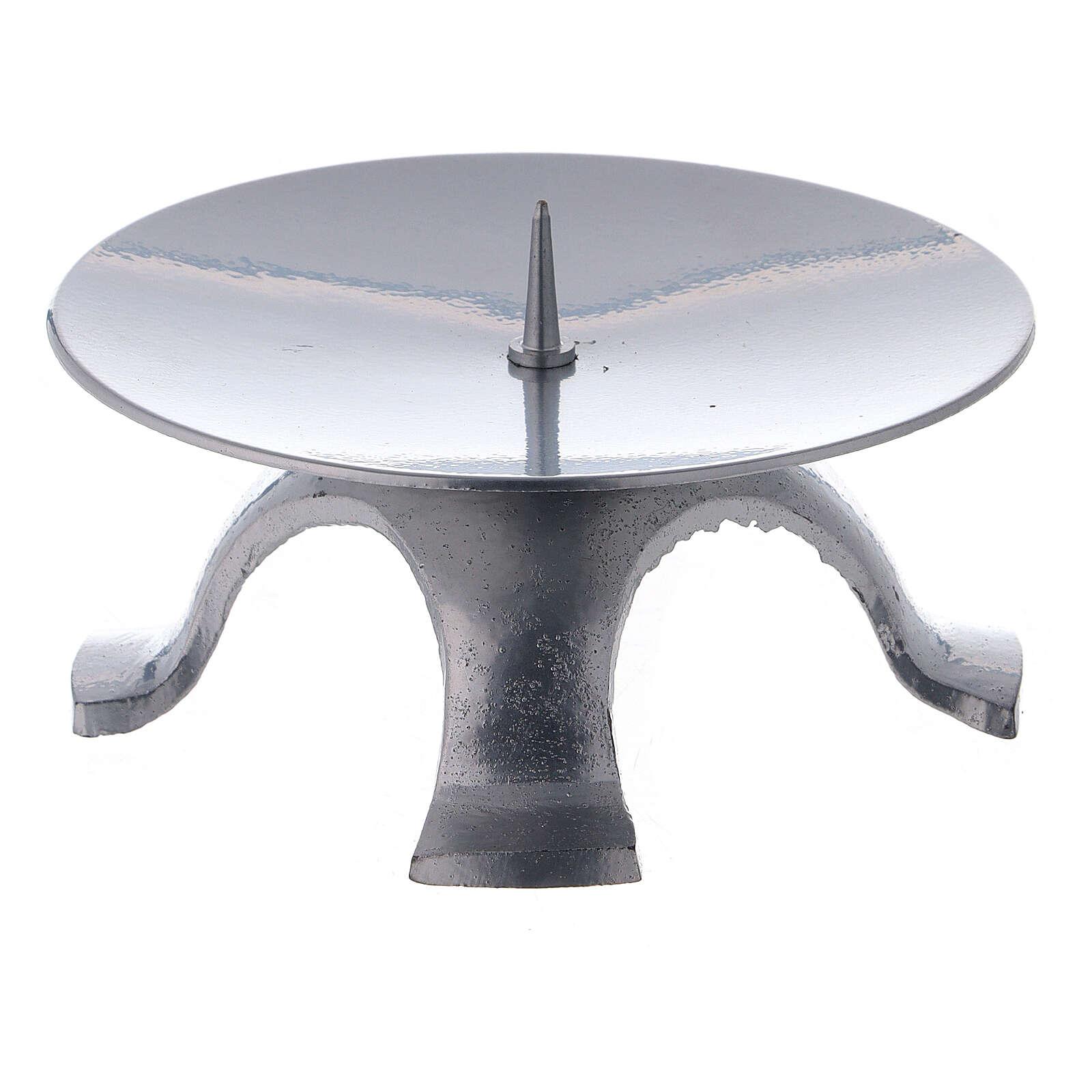 Portavela hierro lacado plata 11,5 cm punta fina 4