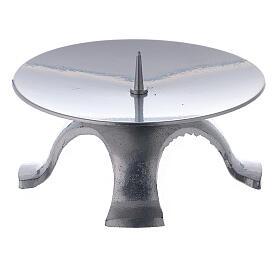 Portavela hierro lacado plata 11,5 cm punta fina s1