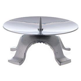 Portavela hierro lacado plata 11,5 cm punta fina s2