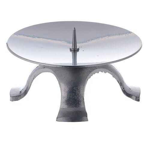 Portavela hierro lacado plata 11,5 cm punta fina 1