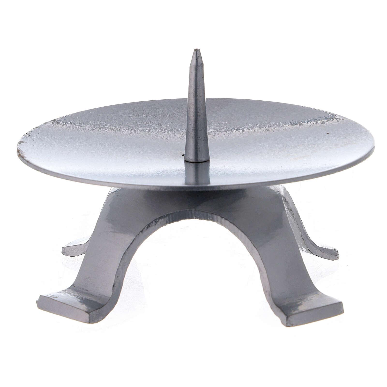Base candela ferro laccato punzone spesso 11,5 cm 4