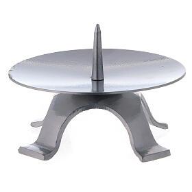 Base candela ferro laccato punzone spesso 11,5 cm s2