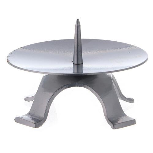 Base candela ferro laccato punzone spesso 11,5 cm 2