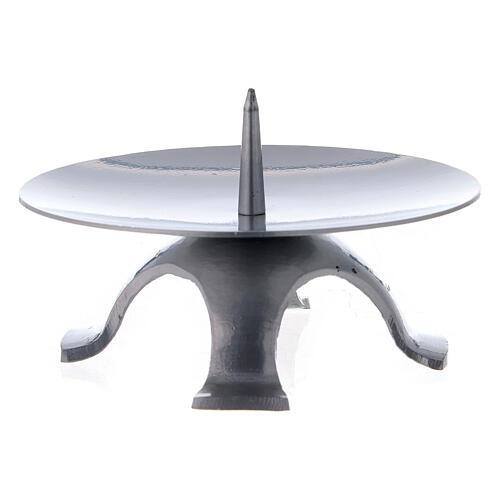 Base vela 13 cm hierro punta espesa 2