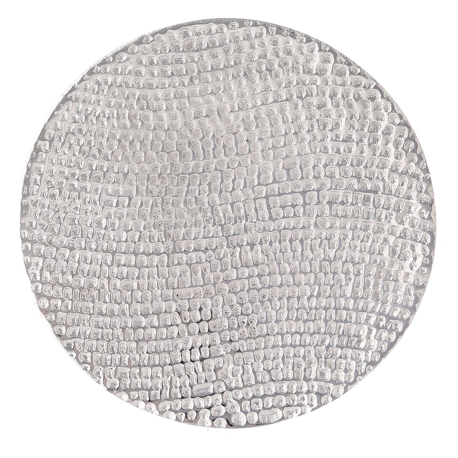 Assiette porte-bougie nid d'abeille aluminium diamètre 14 cm 3