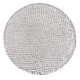Assiette porte-bougie nid d'abeille aluminium diamètre 14 cm s2