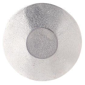 Assiette porte-bougie nid d'abeille aluminium diamètre 14 cm s3
