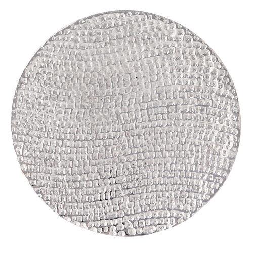 Assiette porte-bougie nid d'abeille aluminium diamètre 14 cm 2