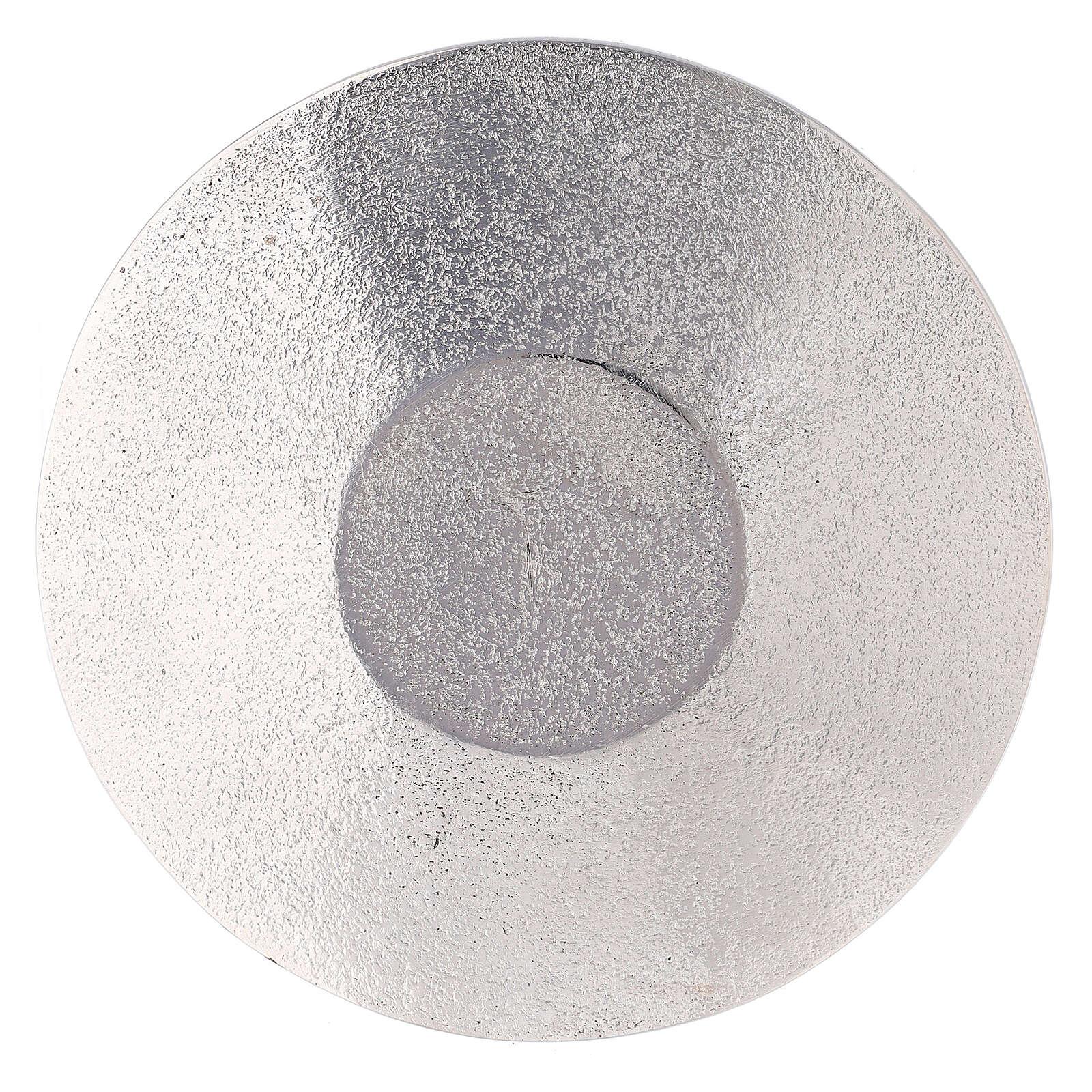 Piatto portacandela nido ape alluminio diametro 14 cm 3