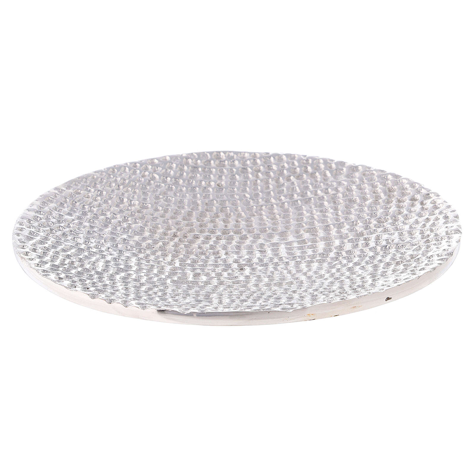 Honeycomb aluminium candle holder plate d. 5 1/2 in 3