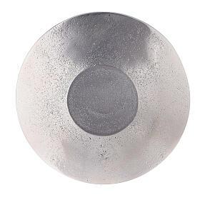 Piatto portacandela foglie a rilievo alluminio diametro 14 cm s3