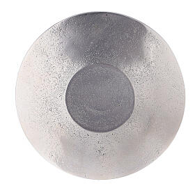 Aluminium candle holder plate with embossed leaf pattern d. 5 1/2 in s3