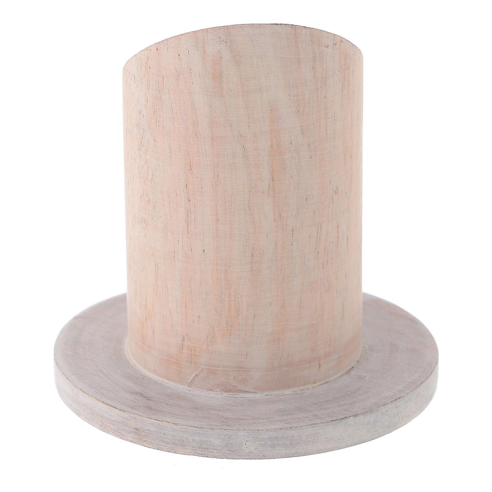 Base vela madera de mango claro diámetro 4 cm 3