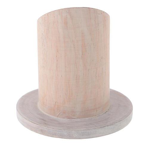 Base bougie bois de manguier clair diamètre 4 cm 3