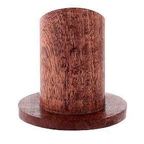 Portavela madera mango oscuro 4 cm s3
