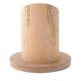 Portavela madera mango natural diámetro 4 cm s3