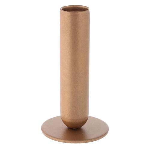 Bougeoir fer doré bocal haut h 12 cm 1