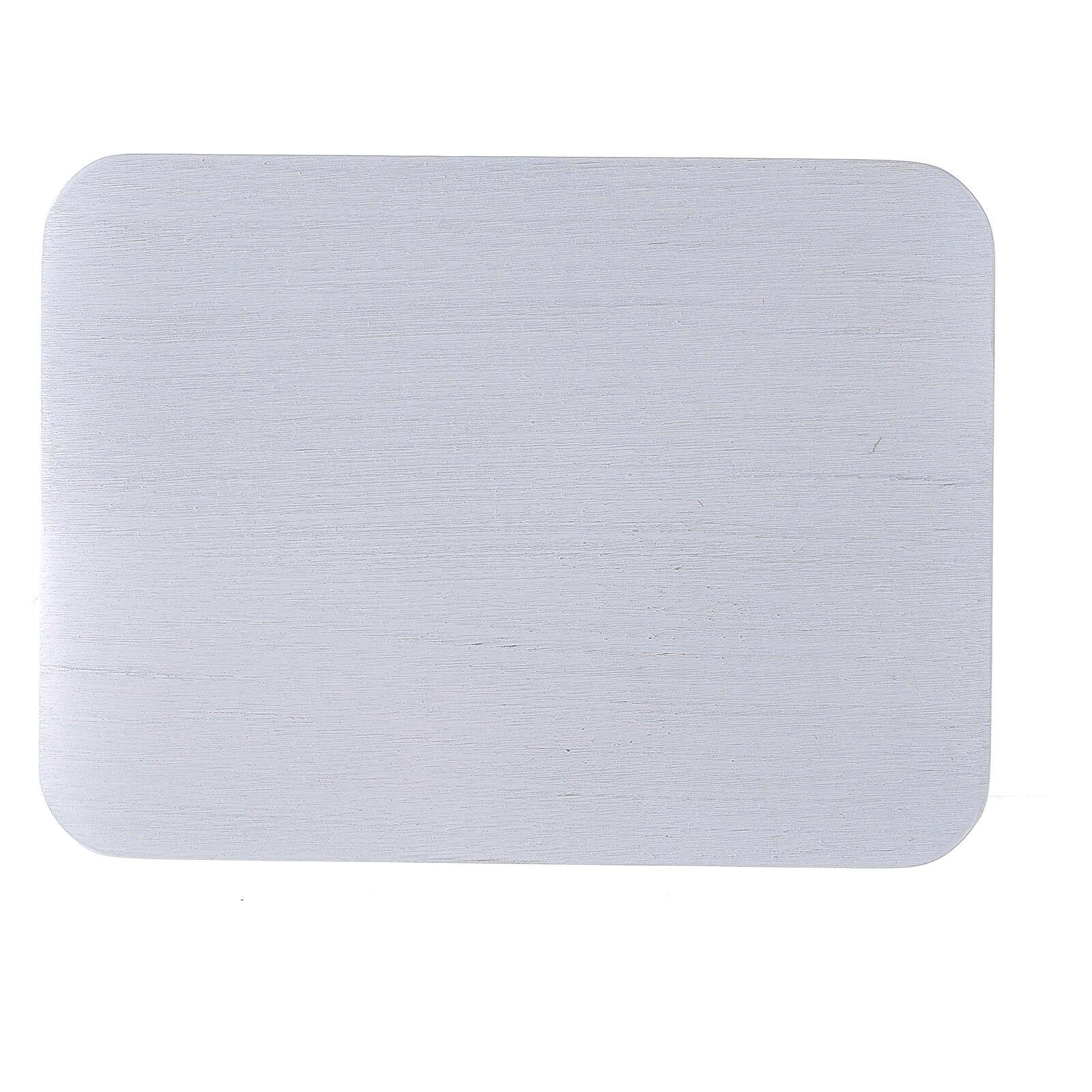 Plato rectangular vela aluminio cepillado 13,5x10 cm 3