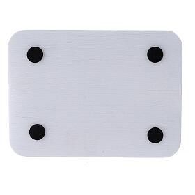Assiette rectangulaire à bougie aluminium brossé 13,5x10 cm s3