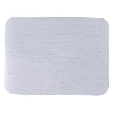 Assiette rectangulaire à bougie aluminium brossé 13,5x10 cm 2