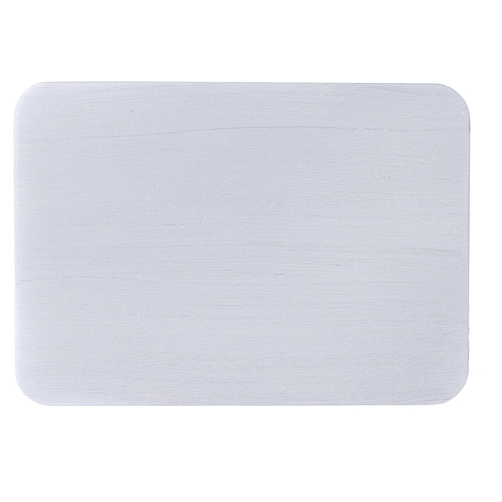 Assiette bougeoir aluminium brossé 17x12 cm rectangulaire 3