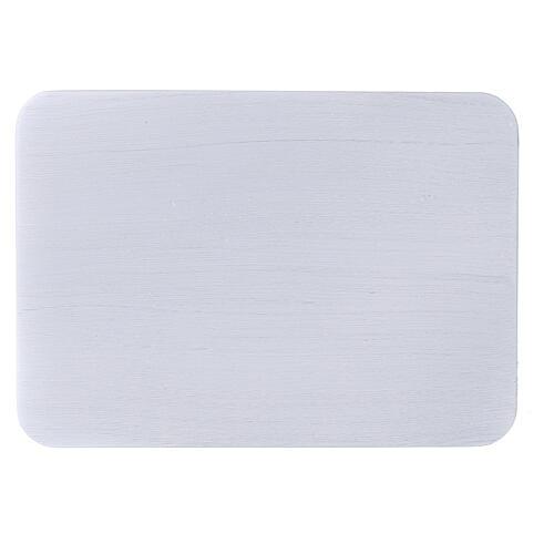 Assiette bougeoir aluminium brossé 17x12 cm rectangulaire 2