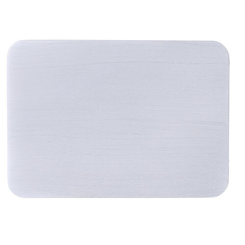 Piatto portacero alluminio spazzolato 17x12 cm rettangolare 2