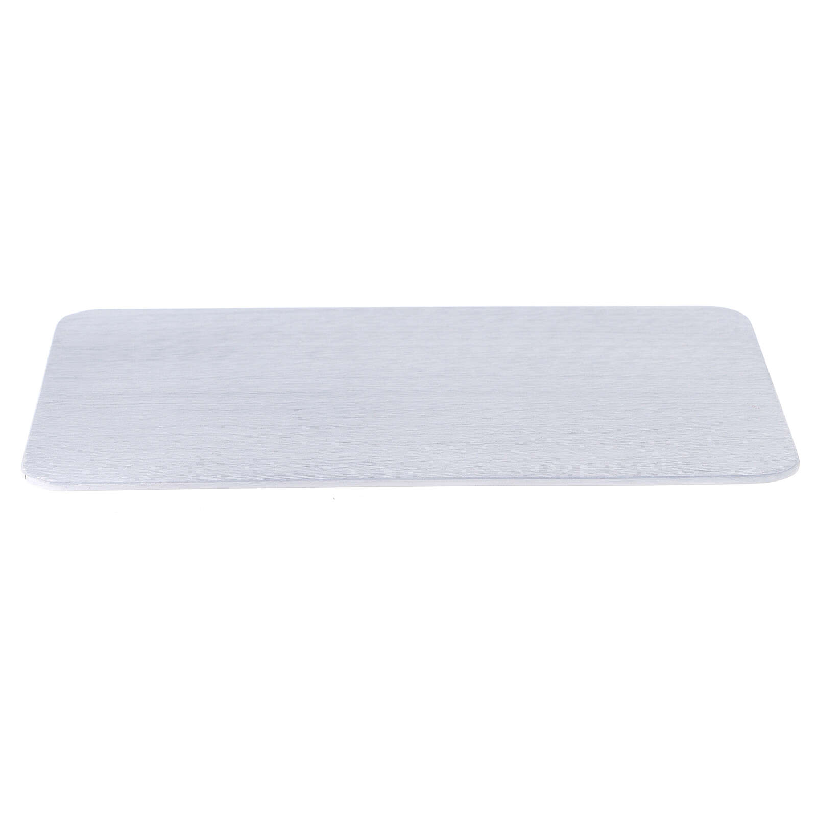 Plato portavela aluminio cepillado 20x14 cm rectangular 3