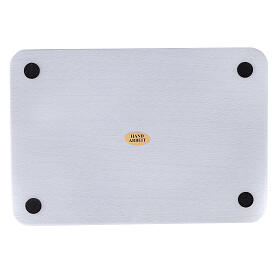 Plato portavela aluminio cepillado 20x14 cm rectangular s3