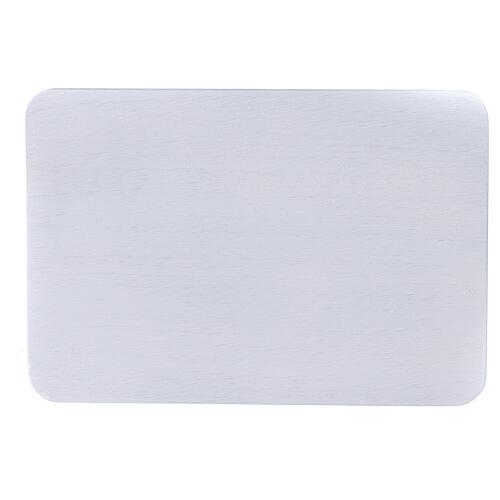 Plato portavela aluminio cepillado 20x14 cm rectangular 2