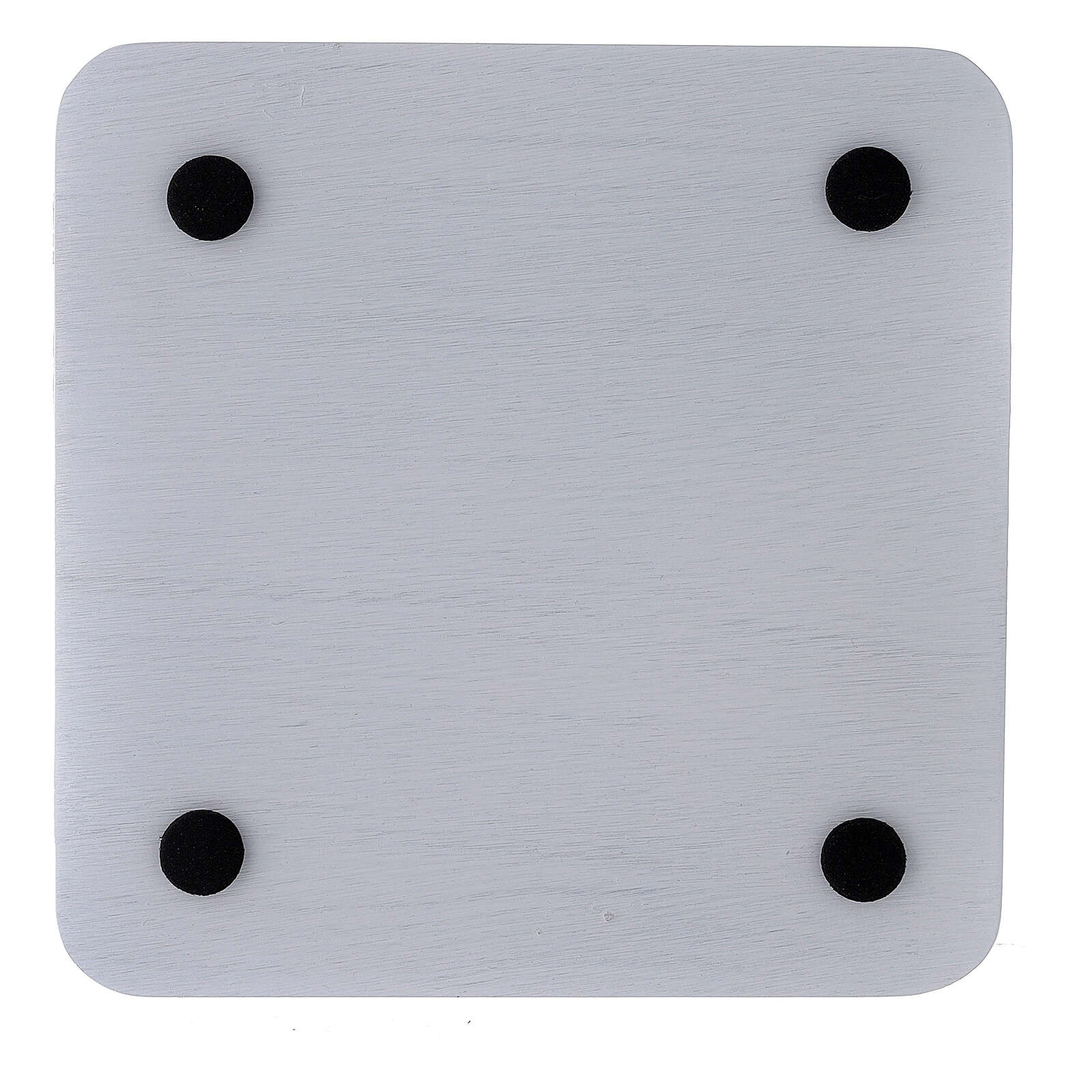Square plate in white aluminium 5 1/2x5 1/2 in 3