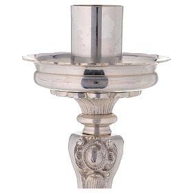 Chandelier d'autel laiton argenté trépied h 39 cm s3