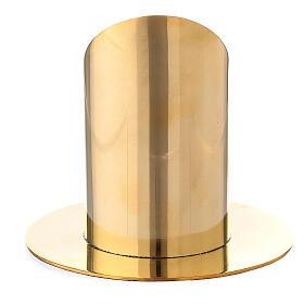 Portacandela ottone dorato lucido candela 6 cm s3
