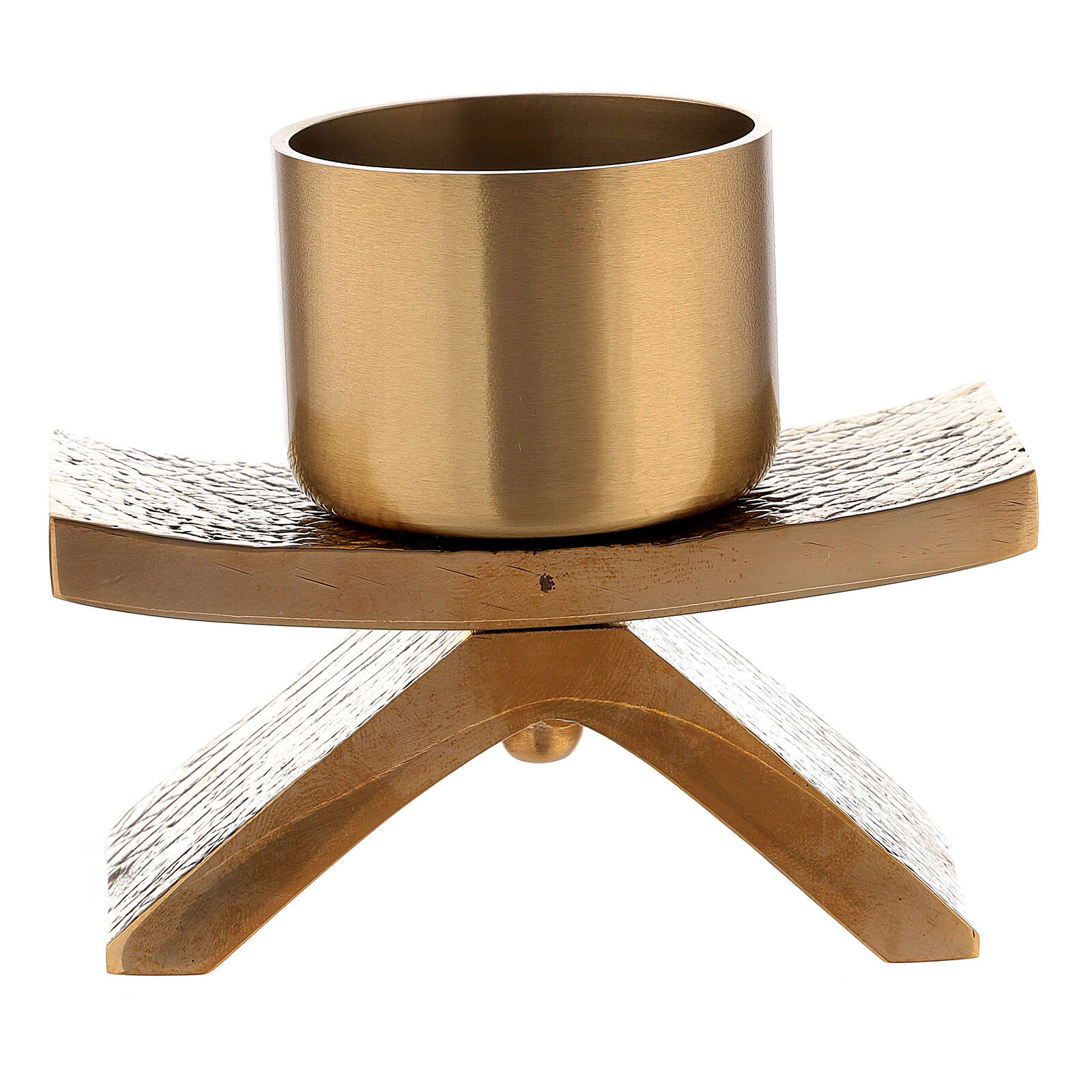 Candelero con base 5 cm bronce Molina 4