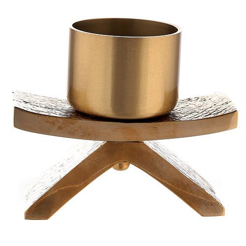 Candelero con base 5 cm bronce Molina 1