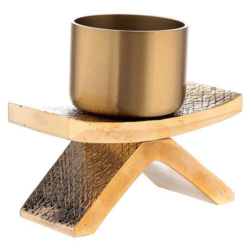 Candelero con base 5 cm bronce Molina 2