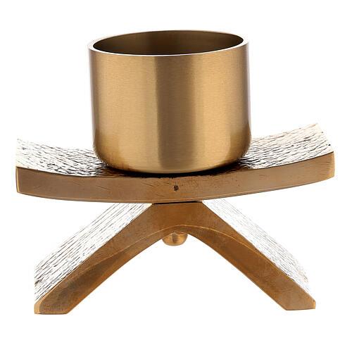 Candelero con base 5 cm bronce Molina 3