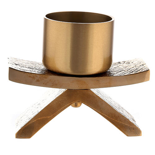 Bronze Molina candlestick with socket 2 in 1