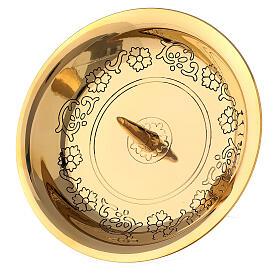 Portacandela ottone dorato punzone 10 cm s2