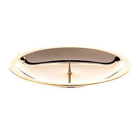Piatto candela punzone ottone lucido 13 cm s1