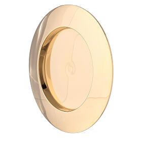 Piatto portacandela incavo ottone dorato 8 cm s2