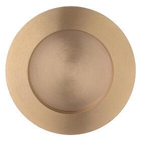 Piatto portacandela rotondo 8 cm ottone satinato s1