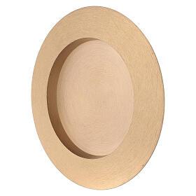 Piatto portacandela rotondo 8 cm ottone satinato s3