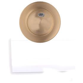 Piatto portacandela rotondo 8 cm ottone satinato s4
