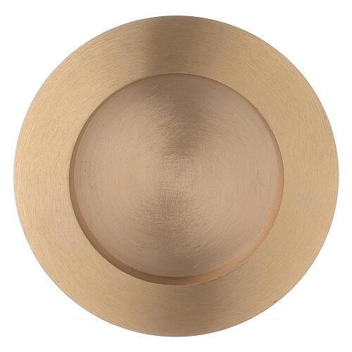 Piatto portacandela rotondo 8 cm ottone satinato 1