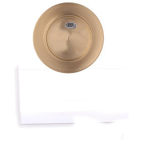 Round candle holder plate 3 in satin finish brass s4