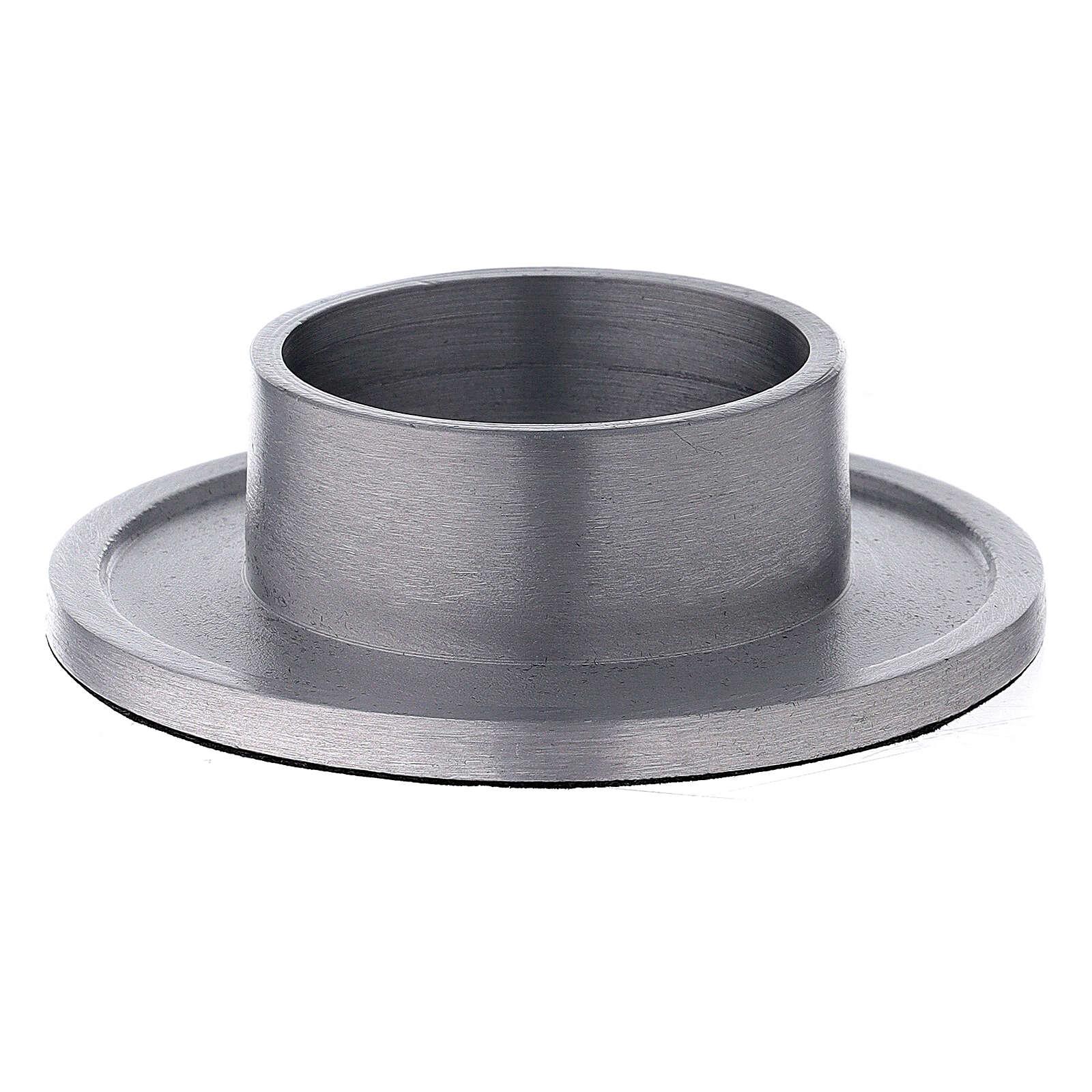 Bougeoir aluminium satiné bague 5 cm 3
