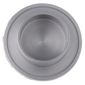 Base portavela aluminio satinado 6 cm s2