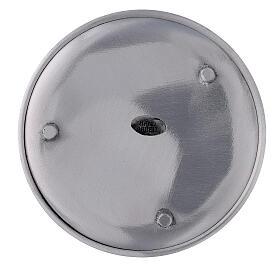 Piatto portacandela alluminio satinato 14 cm s3