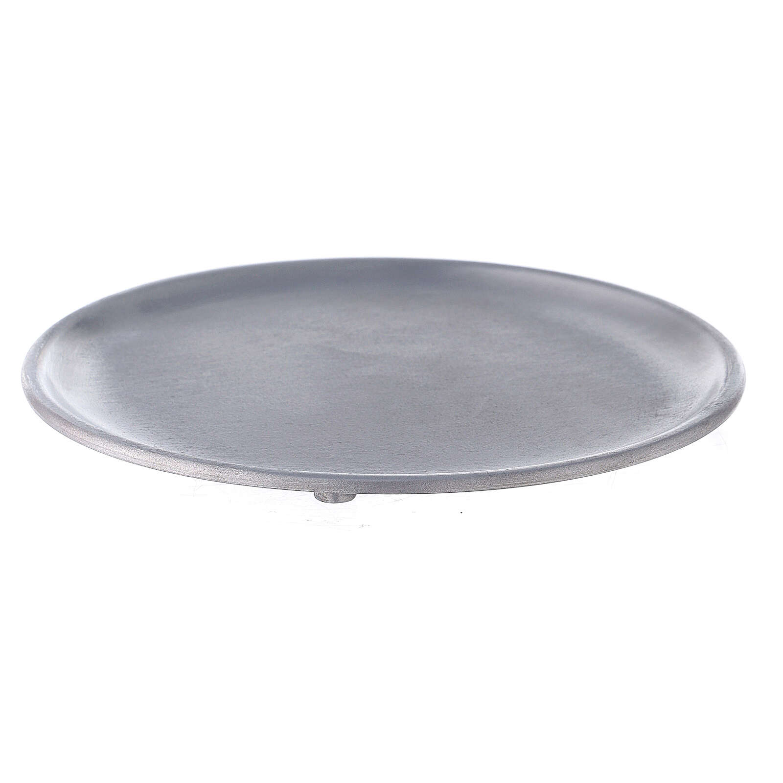Aluminium candle holder plate with satin finish 5 1/2 in 3